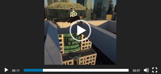 Захватывающий паркур на небоскребах.
