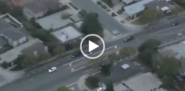 Погоня в Калифорнии. Скачать видео авто погони.
