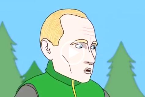 Золотая рыбка и Путин. Скачать видео-анекдот.
