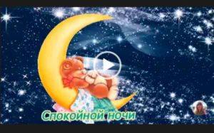 Спокойной ночи милое видео пожелание для дорогого человека.