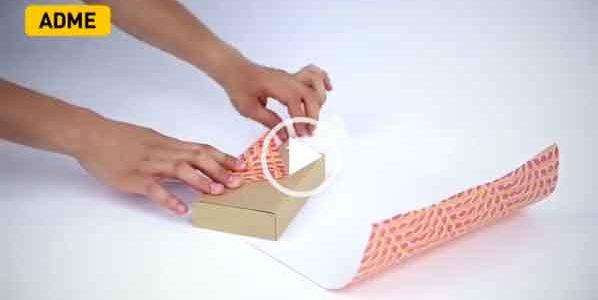Как быстро упаковать подарок. Интересный видео лайфхак.
