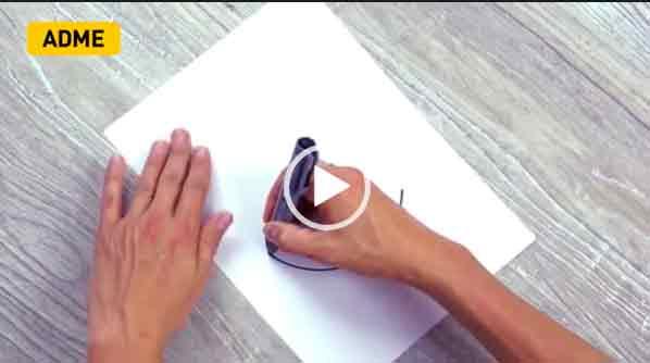 Как нарисовать идеальный круг на листе бумаги. быстро. Интересный лайфхак.