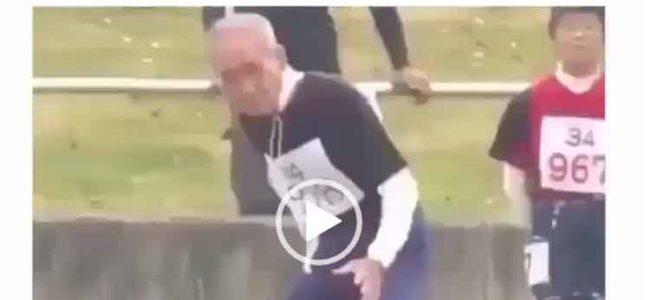 Дед бегает в 101 год. Невероятное видео.