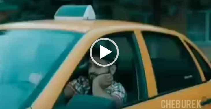Еще не привык работать в такси. Смешной прикол.