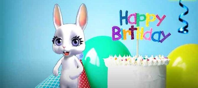 Поздравление с днем рождения от зайки. Скачать бесплатно.