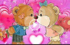 С днем поцелуя. Красивая открытка. Скачать бесплатно.